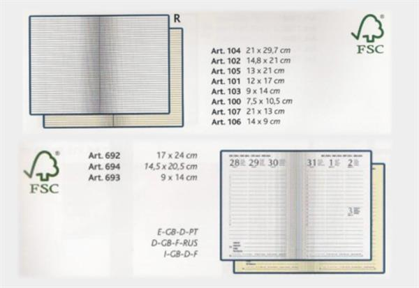 MyNotes 4C Plus 9x14, notes in cuoio rigenerato, made in Italy