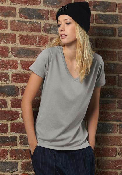 T-shirt donna cotone organico B&C, collo a V