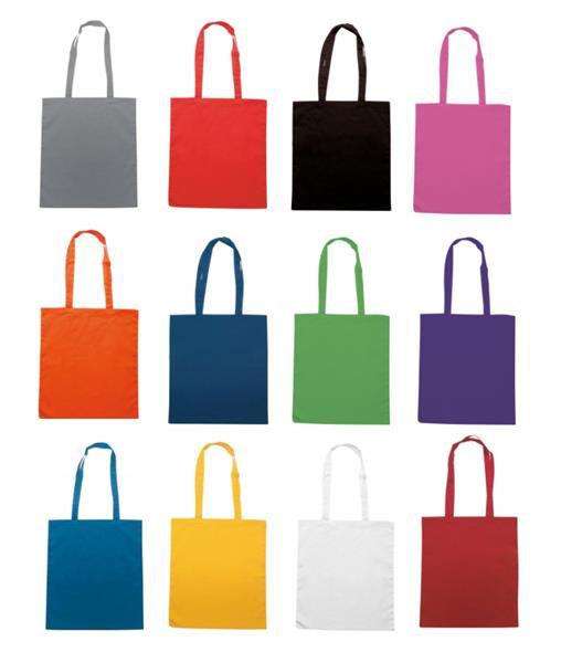 Borsa Shopping in Cotone con manici lunghi