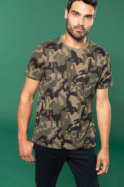 T-shirt mimetica uomo maniche corte KARIBAN